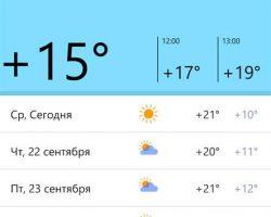 Приложение «Яндекс.Погода» вышло на Windows 10