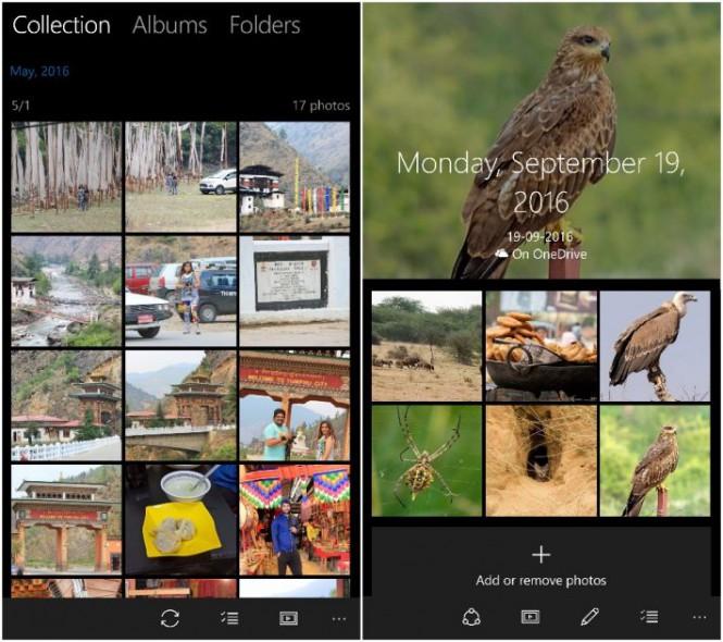 Microsoft тестирует новый интерфейс Photos
