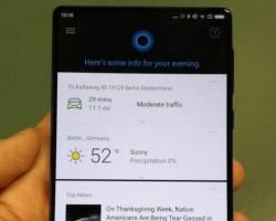 Xiaomi установит Cortana на Android-смартфон Mi Mix