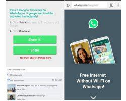 Хакеры предлагают бесплатный интернет от имени WhatsApp