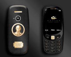 На новую Nokia 3310 нанесли золотого Путина