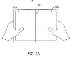 В сети появилась информация о патенте Microsoft  на сгибаемый смартфон