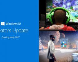 Обновление Creators Update выйдет сначала для ПК