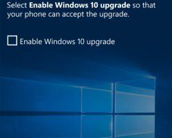 Обновление до Windows 10 Mobile через Upgrade Advisor снова заработало