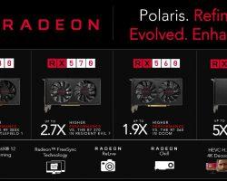 AMD анонсировала новую линейку видеокарт RX 500