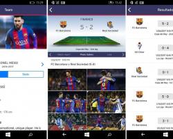 «Барселона» выпустила свое приложение на Windows 10 Mobile