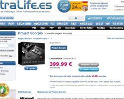 Project Scorpio будет стоить всего 399 евро?