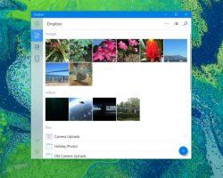 Обновление Dropbox для Windows 10 принесло элементы дизайна Project NEON