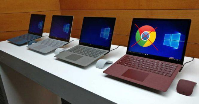 Браузер Google Chrome может никогда непоявиться наWindows 10 S