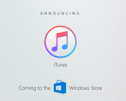В Windows Store появится iTunes для Windows 10