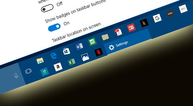 настройка панели задач в windows 10
