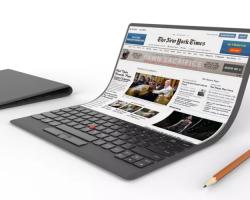 Компания Lenovo продемонстрировала необычный концепт ноутбука будущего