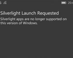 Windows 10 Mobile больше не будет поддерживать Silverlight-приложения