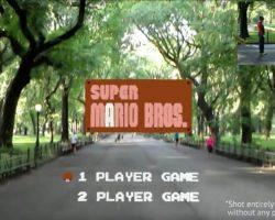 Игру Super Mario Bros перенесли в реальную жизнь