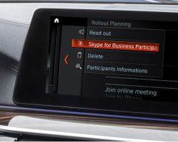 Skype for Business появится в автомобилях BMW