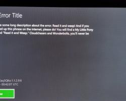Пользователь Xbox One получил сообщение об ошибке с просьбой найти мульсериал «Мой маленький пони»