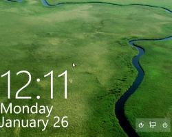 Убираем иконку подключения к сети с экрана блокировки Windows 10
