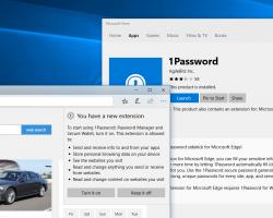 Появилось расширение 1Password для браузера Edge