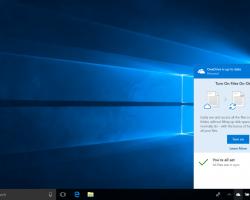 Активацияфункции OneDrive Files On-Demand послеустановки Windows 10 Fall Creators Update