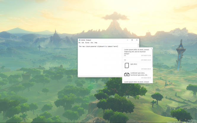 Появились изображения облачного буфера обмена вWindows 10 Redstone 4