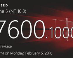Создана первая сборка Windows 10 Redstone 5