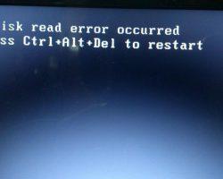 Инструкция: как исправить ошибку «A Disk Read Error Occurred»