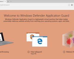 Инсайдеры Microsoft получили доступ к Windows Defender Application Guard