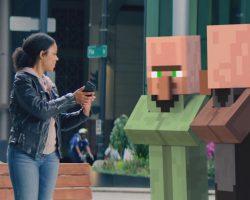 Microsoft работает над выпуском мобильной Minecraft в дополненной реальности