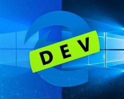 Вышла новая версия Microsoft Edge Dev