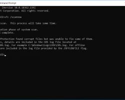 Последнее обновление Microsoft сломало команду sfc / scannow