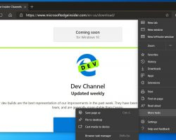 Вышла новая сборка Microsoft Edge Dev