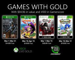 Подписчики Xbox Live Gold узнали список бесплатных игр на март