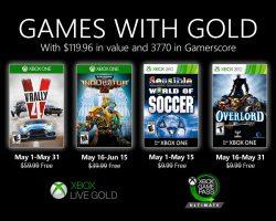 Microsoft опубликовал список бесплатных игр на май 2020 года для подписчиков Xbox Live Gold